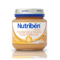 NUTRIBEN POSTRE DE 6 FRUTAS CON CEREALES POTITO INICIO 130 G