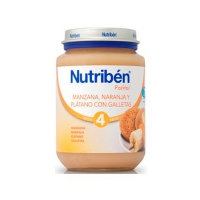 NUTRIBEN MANZANA NARANJA PLATANO Y GALLETA POTITO JUNIOR 200 G