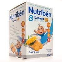 Nutriben 8 Cereales Galletas Maria 600 g